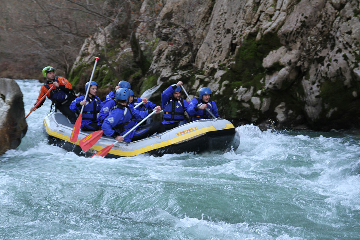 Rafting in Lousios River in Dimitsana, Arcadia