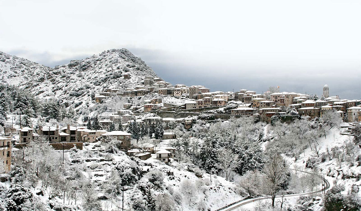 Dimitsana in Arcadia, winter destination in Greece